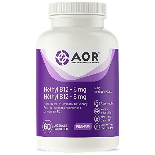 AOR - Methyl B12-5 mg 60 Lozenges - Helps Prevent Vitamin B12 Deficiency