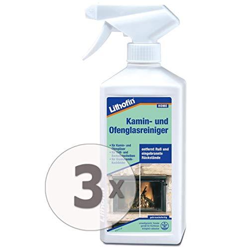 Lithofin Kamin- und Ofenglasreiniger 1,5 l - Gebrauchsfertiger alkalischer Reiniger mit aktiven Reinigungssubstanzen sowie speziellen fett- und schmutzlösenden Zusatzstoffen.