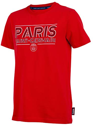 Paris Saint-Germain T-Shirt PSG, offizielle Kollektion, Kindergröße 12 Jahre rot