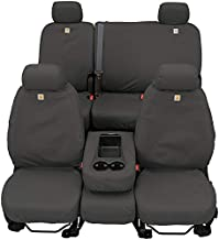 Covercraft Carhartt SeatSaver Custom Seat Covers | SSC2509CAGY | 1st Row Bucket Seats | Compatible with Select Toyota Tacoma Models, Gravel