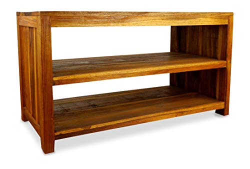 livasia Java Sideboard aus Teakholz | TV-Bank aus Massivholz | Teakholz Lowboard | Asia HiFi-Möbel (Handarbeit)