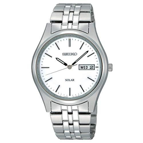 Seiko Solar Herren-Uhr Edelstahl mit Metallband SNE031P1