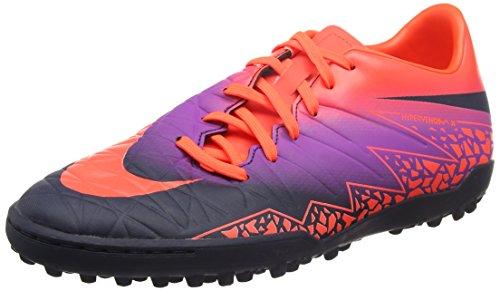 Nike Herren Hypervenom Phelon II TF Fußballschuhe, Mehrfarbig (Pures Karmesinrot/Lebhaftes Lila/Obsidian), 43 EU