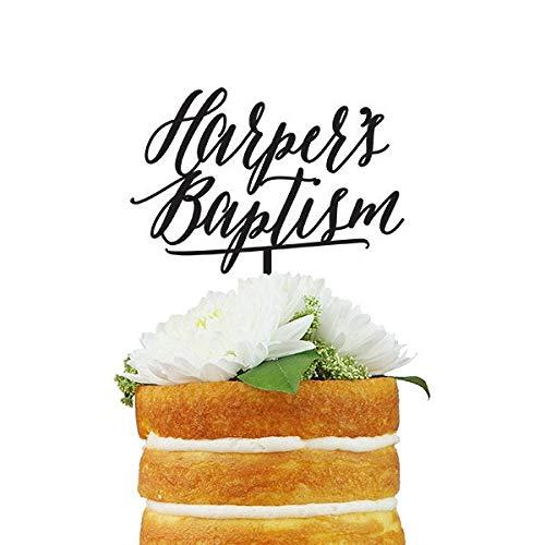 Aangepaste doopnaam Cake Topper Custom Saying Cake Topper met maximaal drie regels tekst voor speciale gelegenheden