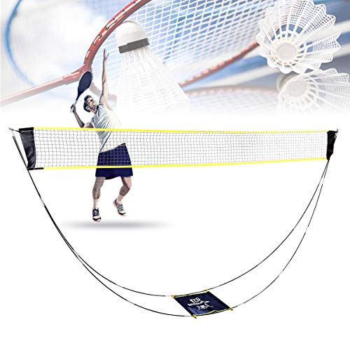 Bilisder Filet de Badminton Portable, Support de Filet de Badminton de Tennis de Volley-Ball Pliable avec Sac de...