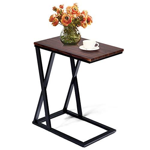 DREAMADE Tavolino Laterale, Tavolo da Divano, Tavolino per Laptop, Tavolino da Caffè per Salotto Camera da Letto, 50 x 34,5 x 60,5 cm