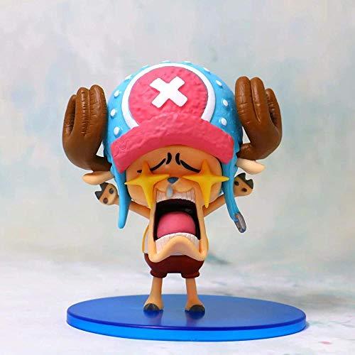 wxxsjfj Anime One Piece Star Eyes Funny Luffy Chopper Usopp Cute Figure Model Toys Luffy Red-UNA