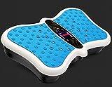 RUN 3D-Vibrationsplatte mit Einer maximalen Last von 150 kg Gewicht zu reduzieren und pflegen Körper Ton, Blau