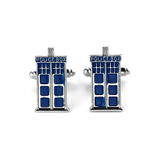 Patch Nation Dr Who Police Box Tardis Cosplay Manschettenknöpfe