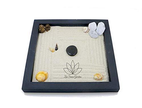 Giardino Zen in Legno da Tavolo (Personalizzabile) per Arredamento della Casa in Stile Feng Shui ॐ Zensimongardens