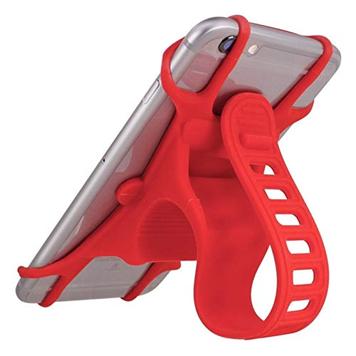 MYBHD Suitable For IPhone Samsung Huawei Shockproof Bicycle Mobile Phone Holder Universal Mobile Phone Holder Handlebar GPS Fixed Bracket Bike accessories (Color : Red)