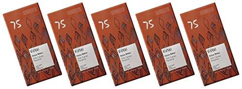 ViVANI エキストラダークチョコレート 75% 80g×5個 ★ コンパクト ★ 有機JAS ★ 有機カカオ75% ★ 砂糖不使用・有機ココナッツシュガー使用★砂糖・乳製品・乳化剤不使用 濃厚なカカオの風味とやさしい甘み