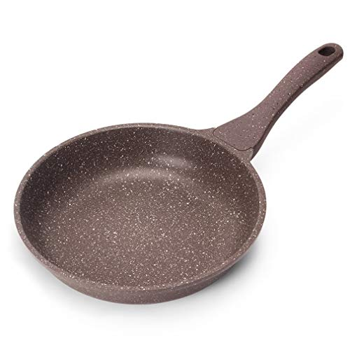HUZK Frying Pans Nonstick Best, Stone Skillets Nonstick, Nonstick Skillet Large, Five-Layer Process, 5MM Thickening, 10.2in