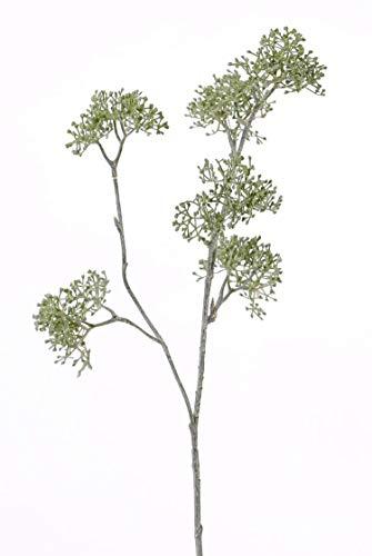 artplants.de Perifollo Verde sintético Esme, Verde, 60cm, Ø8cm - Anthriscus sylvestris - Rama de plástico