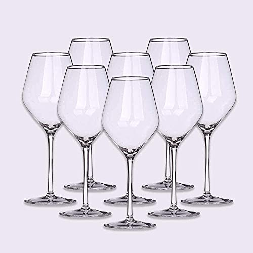 Wijnglas 500 ml Kristal Wijnglas Handgeblazen loodvrij kristalhelder glas Geschikt voor bruiloften, jubilea, Kerstmis