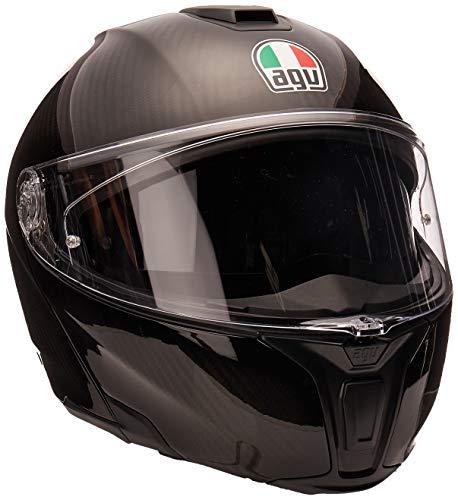 AGV Unisex-Adult Flip-Up Sport Modular Motorcycle Helmet (Black, Large)