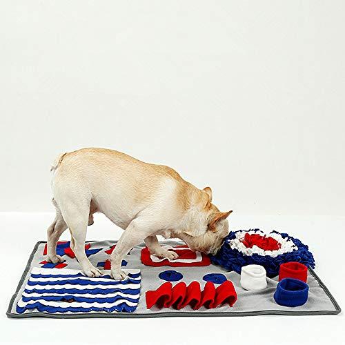 PETEMOO Schnüffelteppich für Hunde, Hund Riechen Trainieren, Geruchsempfindung Trainieren Matte, Schadstofffreies Hundespielzeug Fördert Natürliche Nahrungssuche, 75×50CM