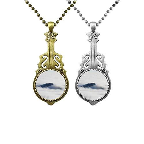 Wolken Nebel Himmel Berg Natur Wald Musik Gitarre Anhänger Schmuck Halskette Anhänger Paar