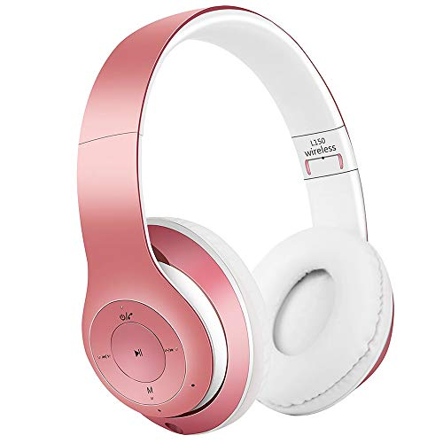 AndThere Bluetooth Cuffie Stereo Senza Fili Cuffie con Microfono Riduzione del Rumore Over Ear Cuffie Pieghevoli Auricolari On Ear Cuffia per Bambini Donna Uomo iPhone iPad Computer TV PC Tablet