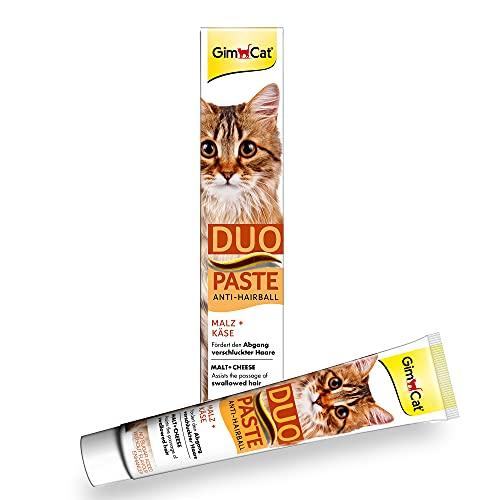 GimCat Duo Paste - Kombination aus funktionalen Inhaltsstoffen und köstlichem Geschmack fördert Gesundheit und Wohlbefinden der Katze - 1 Tube (1 x 50 g)