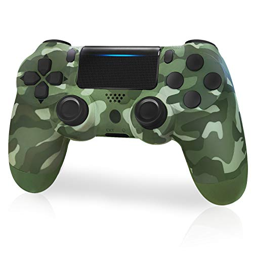 Wireless Controller for Playstation 4, JORREP Wireless Game Controller Compatible with PS4/Pro/Slim Console, Green Camouflage