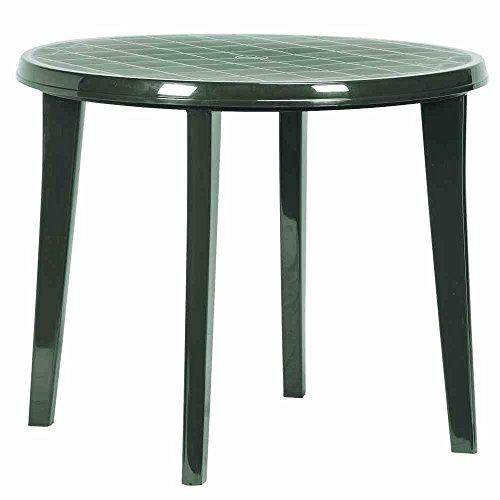 JARDIN 137183 Tisch Lisa, Vollkunststoff ø 90 x H 73 cm, grün