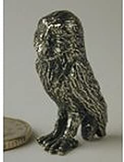 Dollhouse Miniature Pewter Figurine of an Owl
