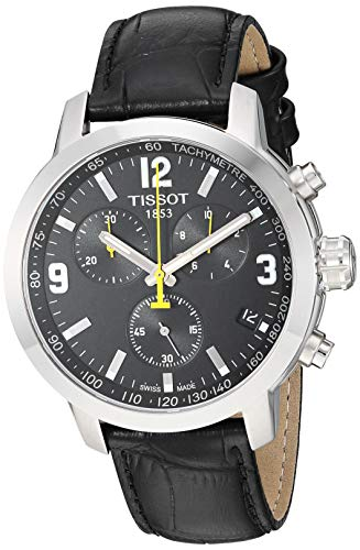 Tissot Herren-Armbanduhr 42mm Armband Synthetikleder Quarz T0554171605700
