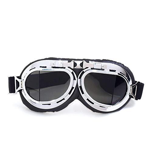 Gafas de esquí de Moto Vintage, Gafas de Moto a Prueba de Polvo Harley Gafas de Motocross a Prueba de Viento para cruceros al Aire Libre
