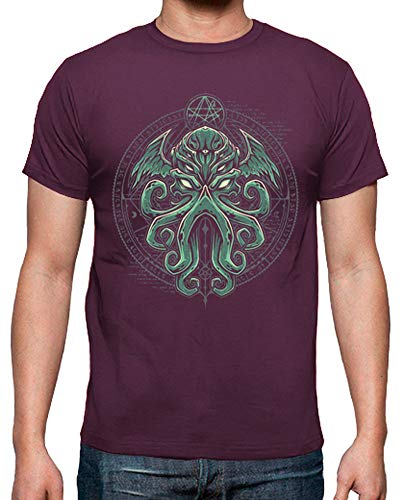 tostadora - T-Shirt Great Cthulhu V1 - Uomo bordò XXL
