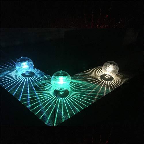 Harddo drijvende vijververlichting op zonne-energie, LED-kleurverandering, zonne-tuin, zwembad, licht-hangend ballicht voor tuin, zwembad, fontein, aquarium