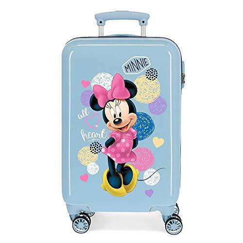 Disney Love Minnie Maleta de Cabina Rosa 37x55x20 cms Rígida ABS Cierre combinación 32L 2,5Kgs 4 Ruedas Dobles Equipaje de Mano