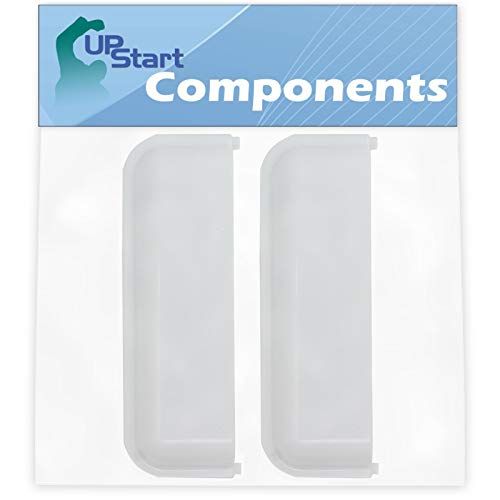 2-Pack W10861225 White Dryer Door Handle Replacement for Maytag MEDX655DW1 Dryer - Compatible with W10714516 Dryer Handle - UpStart Components Brand