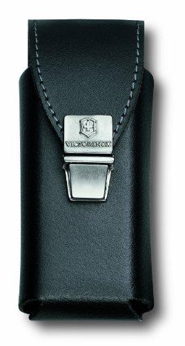 Victorinox Zubehör Gürteltasche Leder mit Steckverschluss für Swiss Tool Plus Mantel, schwarz, One Size