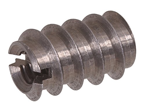 The Hillman Group 57115 8-32 x 0.315-Inch Slotted Insert Nut, 12-Pack