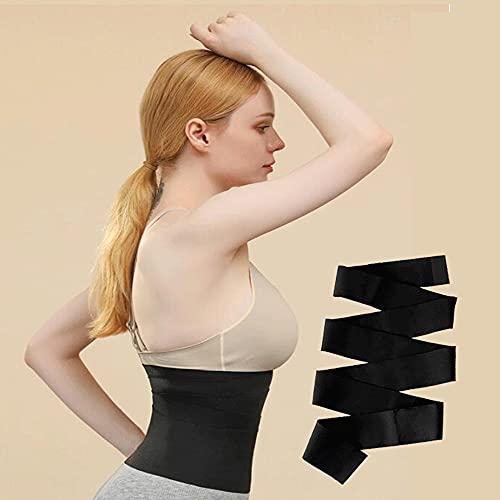 Tummy Tuck Belt for Women Invisible Wrap Waist Trainer Abdominal Binder Tape Tummy Tuck Binder Invisible Wrap Waist Trainer Tape Tummy Compression Garment Bandages Back Brace for Lower Back Pain (6m)