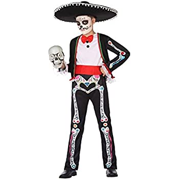Atosa-55633 Disfraz Esqueleto Para Niño Infantil, color negro, 10 ...