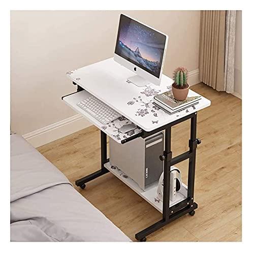 Mesa auxiliar Mesa con bandeja para cama o silla, Mesita de noche perezosa Mesa de regazo móvil, Mesa para computadora portátil de altura ajustable, Soporte para computadora portátil Escritorio Mesa a
