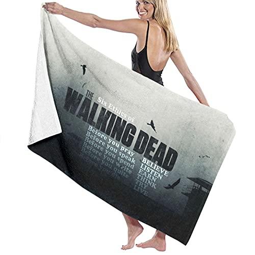 Toalla de baño de Walking Dead, súper suave, de secado rápido y muy absorbente, de calidad, 32 x 52 pulgadas, toallas de baño, accesorios de toalla de piscina.