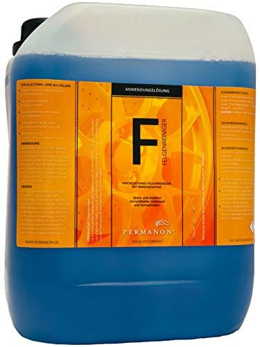 Permanon Felgenreiniger, säure- und alkalifrei, für Stahl, Alu und Chromfelgen.