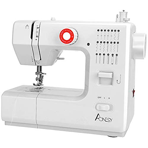 AONESY Máquina de coser portátil, 20 puntadas, 2 marchas, mini máquina de coser, máquina de bordar, máquina de coser para principiantes en casa