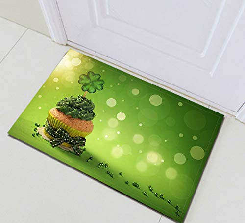 /N Patrick Clover Cupcake Wasserdichtes Gewebe Duschvorhang Haken Badezimmer Matte