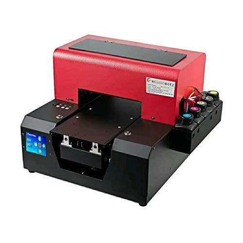Impresora automática de inyección de tinta UV LED, A4, impresora digital de cama plana para una...