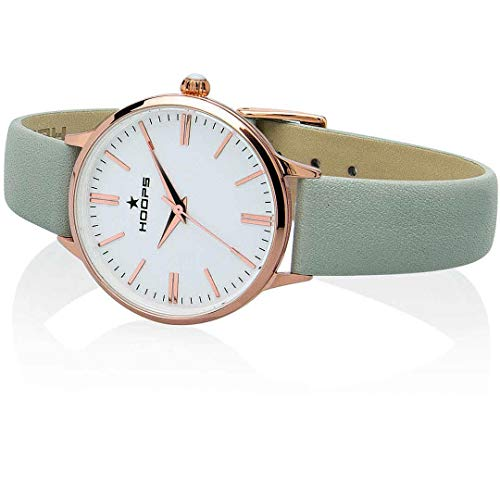 Hoops 2609L-RG04 Classic Gold-Uhr, weiß/grau