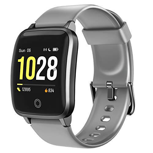 LETSCOM Smart Watch Fitness Trackers with Heart Rate Monitor Step Calorie Counter Sleep Monitor,...
