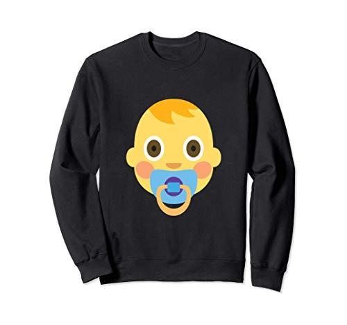 Emoji Bebé Niño Lindo Adorable Chupete Niño Cabello Nuevo Sudadera