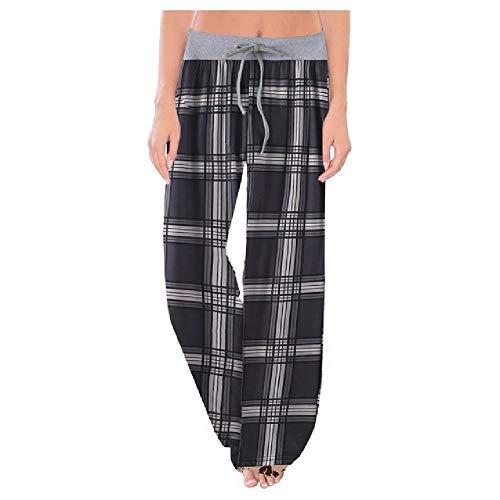 Pantalón casual con estampado de leopardo para mujer, pantalón de invierno, cómodo, elástico, con cordón, pantalones sueltos