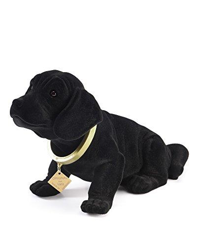 myHomery Wackeldackel original - Wackelfiguren fürs Auto - Hund mit Wackelkopf - Dackel als Wackelhund - Wackel Hund in groß und klein - 19cm & 29cm Schwarz | 29cm