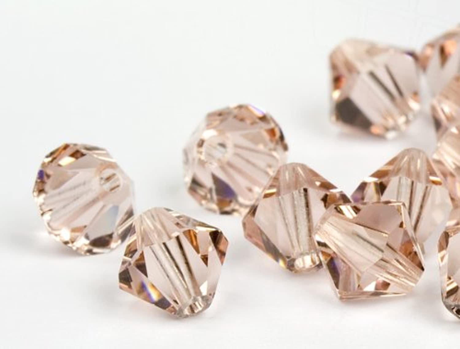 Glass Beads of Swarovski Elements Bicone 3mm (Vintage pink), 1440 Pieces (10 Gross)