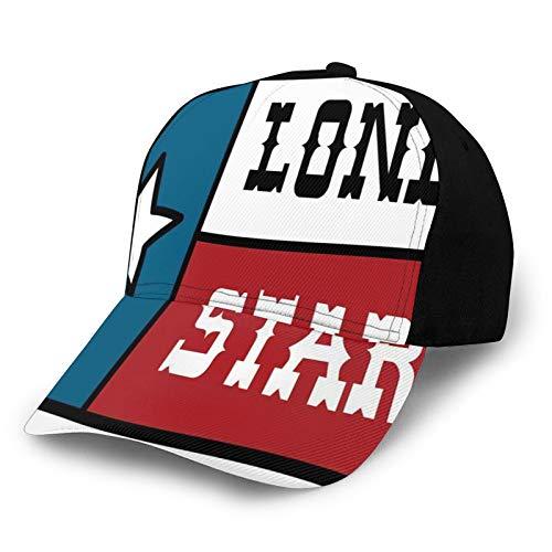 Modische Retro Unisex Mütze,Lone Star Flag United States of America Themed Patriotic Design, Sommer Sonnenhut für Sportreisen im Freien Freizeit